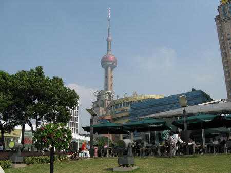 Oriental Pearl TV Tower in Pudong